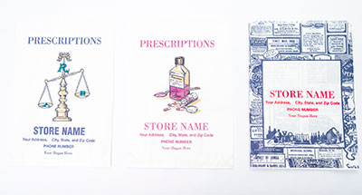 prescription labels ltc forms pharmacy bags